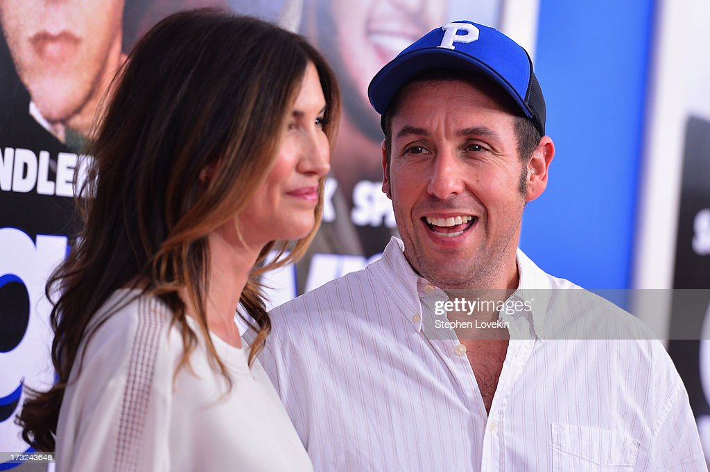 Jackie Sandler (L) and actor Adam Sandler attend the 'Grown Ups 2' New York Premiere at AMC Lincoln Square Theater on July 10, 2013 in New York City.