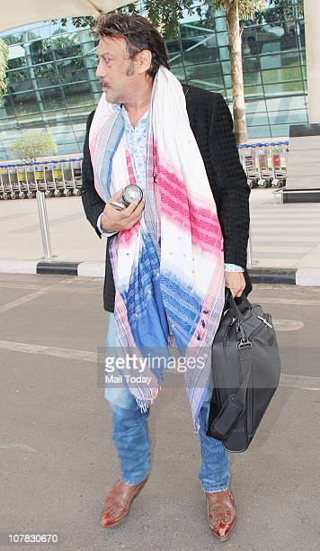 Jackie Shroff at the Mumbai airport in Mumbai on December 30 2010