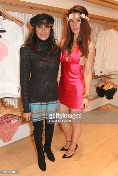 Jackie St Clair and Bianca BowiePhillips attend the launch of the new Lady Garden limited edition tshirts designed by Naomi Campbell Cara Delevingne...
