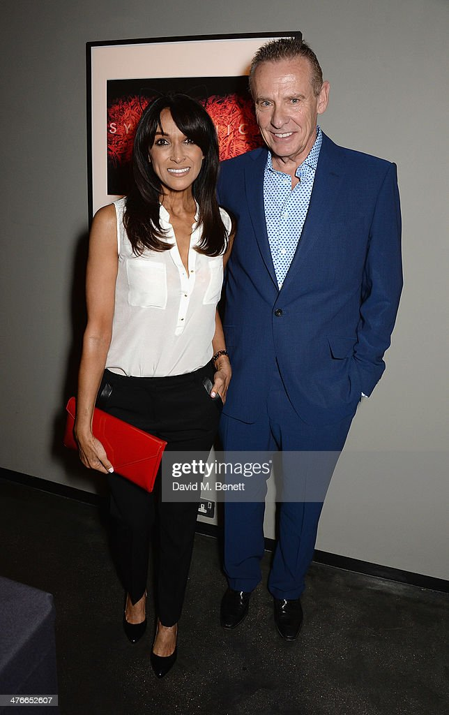 Jackie St Clair and Carl Michaelson attend 'Symphonica' - George Michael Album Launch Party at Hamiltons Gallery on March 4, 2014 in London, England.