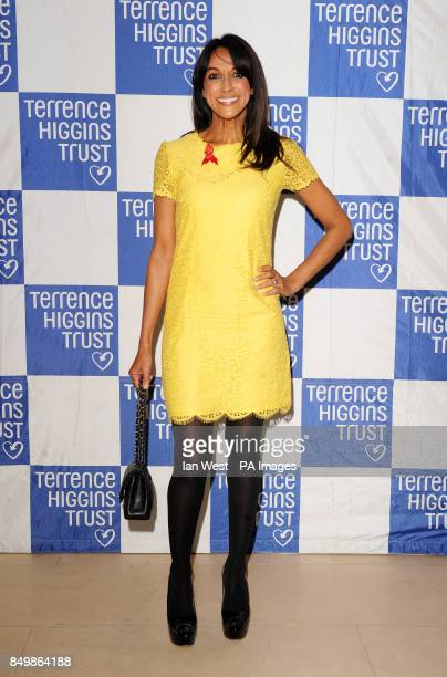 Jackie St Clair arrives at the Terrence Higgins Trust auction at Christie's in London