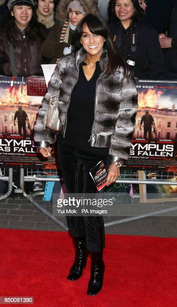 Jackie St Clair arriving for the European Premiere of Olympus has Fallen at the BFI IMAX South Bank in London