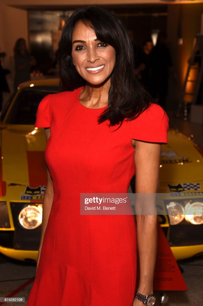 Jackie St Clair attends a private view of the 'Ferrari: Under The Skin' exhibition hosted by Deyan Sudjic and Alice Black, Directors of the Designb Museum, London