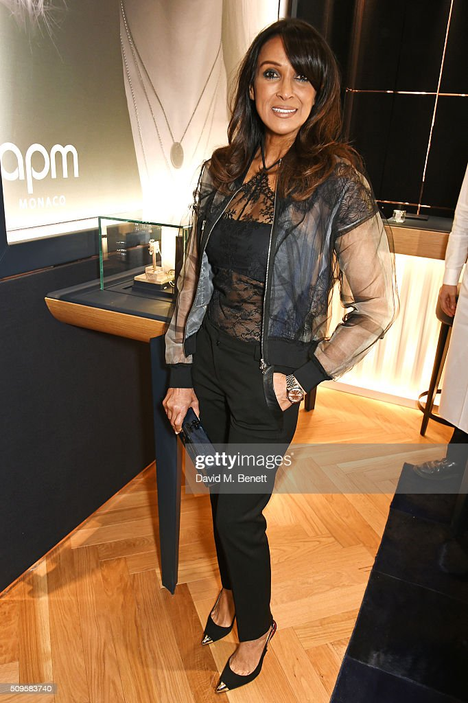 Jackie St Clair attends the APM Monaco flagship store opening on South Molton Street on February 11, 2016 in London, England.
