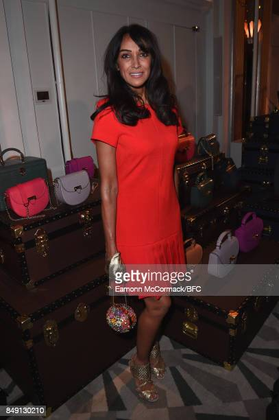 Jackie St Clair attends the Aspinal of London presentation during London Fashion Week September 2017 on September 18 2017 in London England