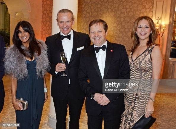 Jackie St Clair Carl Michaelson Lord Charles Dunstone and Lady Celia Dunstone attend The Prince's Trust Invest In Futures dinner at The Savoy Hotel...