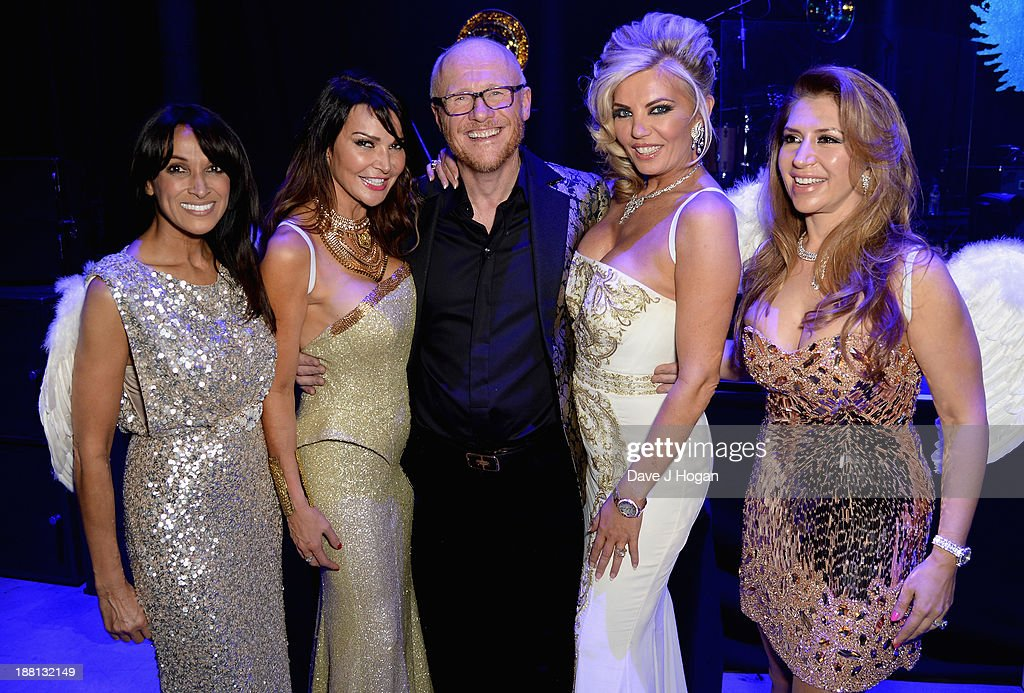 Jackie St Clair, Lizzie Cundy, John Caudwell, Claire Caudwell and Roya Babaee attend The Global Angel Awards at the Roundhouse on November 15, 2013 in London, England.