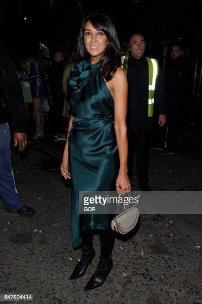 Jackie St Clair seen at Florucci VIP party during London Fashion Week September 2017 on September 15 2017 in London England