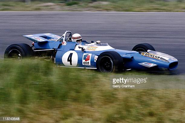 Jackie Stewart drives the Matra International Matra MS80 Ford Cosworth DFV 30 V8 during practice for the Dutch Grand Prix on 20th June 1969 at...