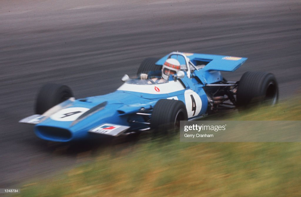 Jackie Stewart drives the #4 Matra International Matra MS80 Ford Cosworth DFV 3.0 V8 during practice for the Dutch Grand Prix on 20th June 1969 at the Circuit Park Zandvoort in Zandvoort, Netherlands.