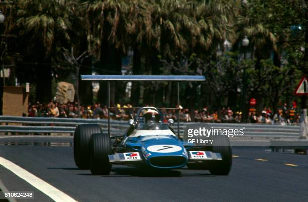 Jackie Stewart driving a Matra MS80 at Monjuich Park Spanish GP 1st Spain