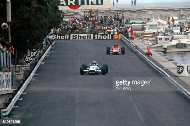 Jackie Stewart driving a Matra MS80 at the Monaco GP 1st Monte Carlo