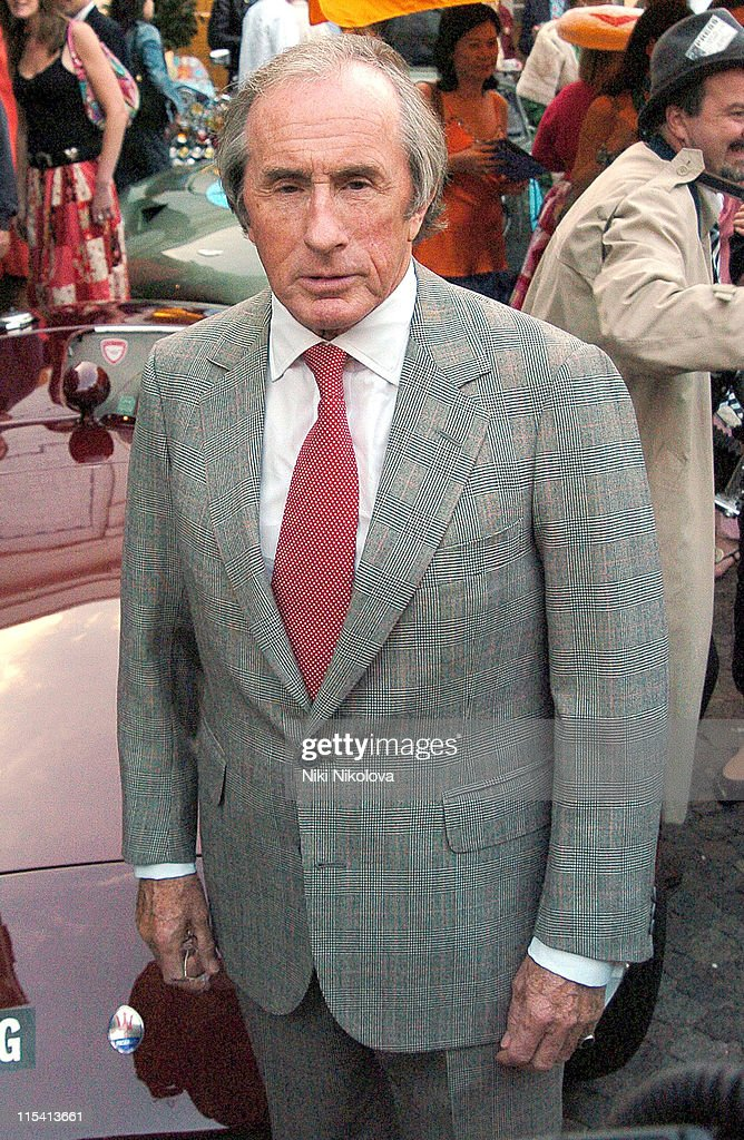 <a gi-track='captionPersonalityLinkClicked' href=/galleries/search?phrase=Jackie+Stewart&family=editorial&specificpeople=167276 ng-click='$event.stopPropagation()'>Jackie Stewart</a> during Goodwood Revival Launch Party - August 16, 2005 at Bluebird in London, Great Britain.