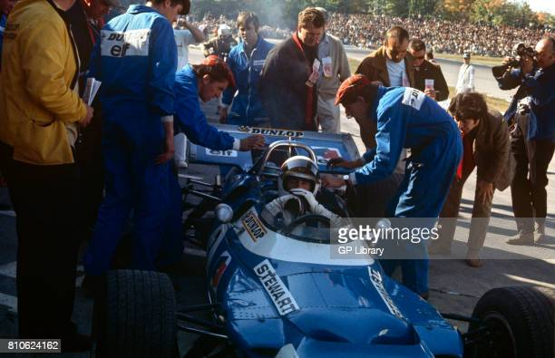 1969 Jackie Stewart in a Matra MS80 at the Clermont Ferrand French GP 1st France