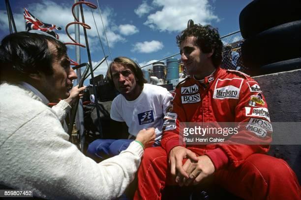 Jackie Stewart Jacques Laffite Alain Prost Grand Prix of Canada Circuit Gilles Villeneuve June 17 1984