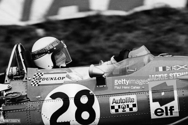 Jackie Stewart MatraFord MS10 Grand Prix of France RouenLesEssarts July 7 1968