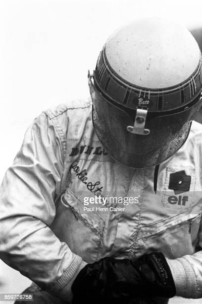 Jackie Stewart MatraFord MS10 Grand Prix of Germany Nurburgring August 4 1968 Jackie Stewart right after he climbed out of his car after winning the...