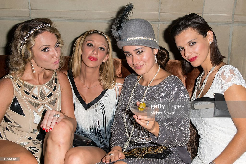 Jackie Voronov, Christa Goulakos, Lara Costa and Elpida Gianopoulos attend Johnny Weir & Victor Weir-Voronov's Birthday Celebration at Soho Grand Hotel on July 27, 2013 in New York City.