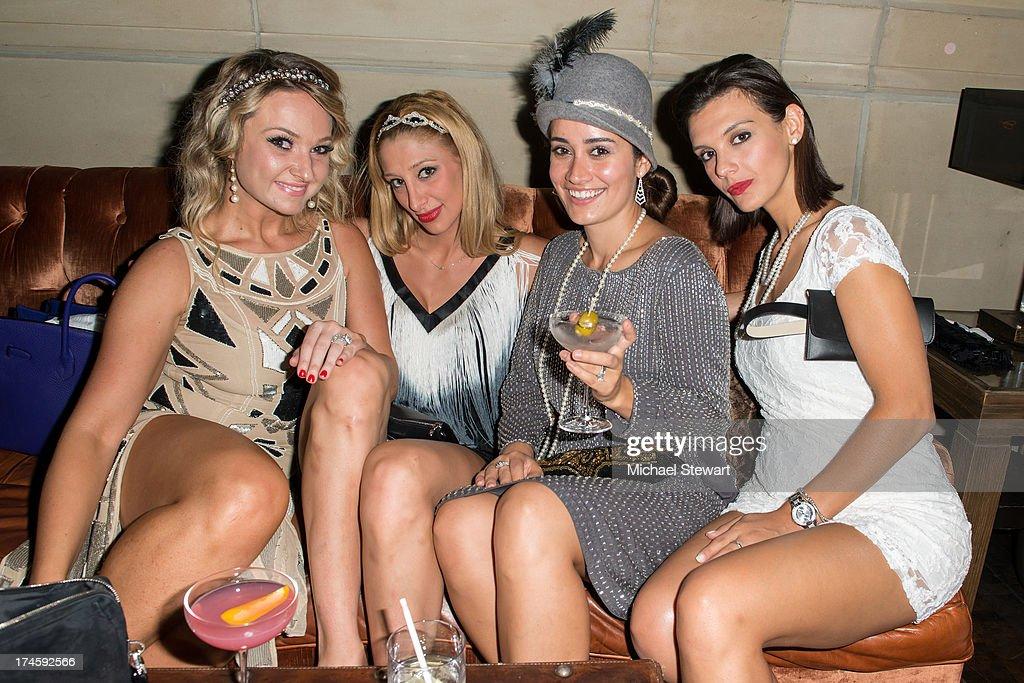 Jackie Voronov, Christa Goulakos, Lara Costa and Elpida Gianopoulos attend Johnny Weir & Victor Weir-Voronov's Birthday Celebration at Soho Grand Hotel on July 27, 2013 in New York City.
