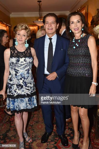 Jackie Weld Drake Edgar Batista and Fe Fendi attend Jackie Weld Drake hosts Casita Maria's Fiesta 2017 Cocktail Party at Private Residence on...