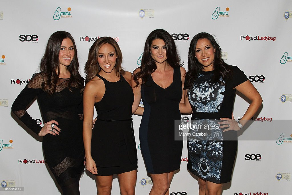 Jacklyn Ciurcio, <a gi-track='captionPersonalityLinkClicked' href=/galleries/search?phrase=Melissa+Gorga&family=editorial&specificpeople=7306775 ng-click='$event.stopPropagation()'>Melissa Gorga</a>, Maria Chappa and Melanie Cervino attend the 'Goddess Night Out' event benefiting Project Lady Bug hosted by Dina Manzo on November 11, 2013 in Garfield, New Jersey.