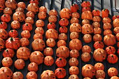 500 Jackolanterns are seen on October 28 2014 in Shenyang Liaoning province of China A shopping mall celebrates the upcoming Halloween with 500...