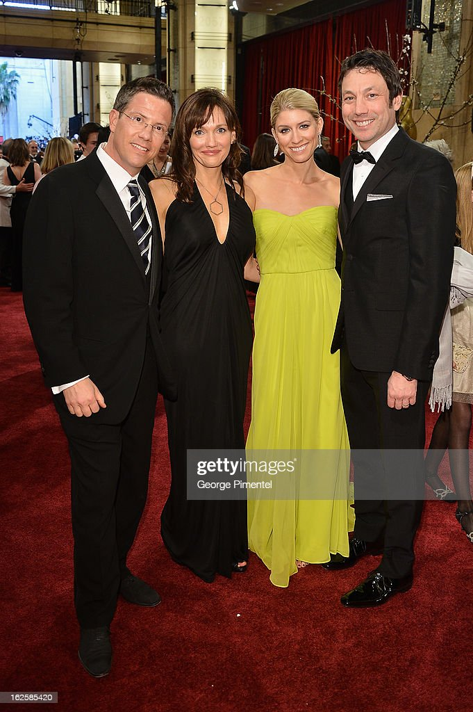 Jackoway Tyerman's Karl Austen, wife Marsha Austen, Heidi Hertell, and WME's Greg Hodes arrive at the Oscars at Hollywood & Highland Center on February 24, 2013 in Hollywood, California.