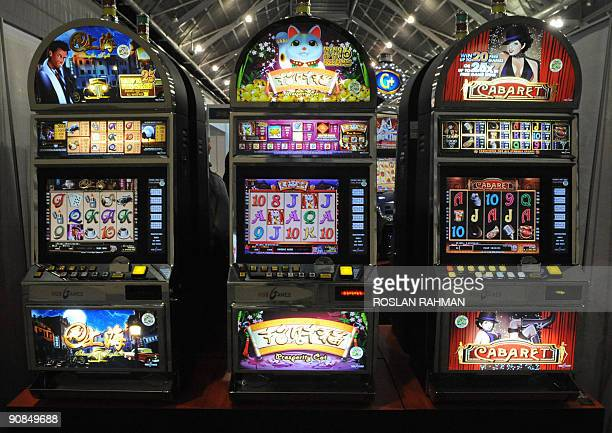 Jackpot machines are displayed at the Asia Gaming Expo in Singapore on August 19 2009 Singapore is scheduled to open two multibillion dollar casino...