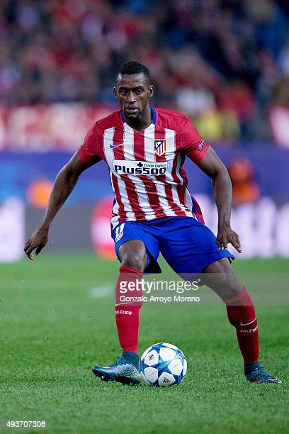 Jackson Arley Martinez of Atletico de Madrid controls the ball during the UEFA Champions League Group C match between Club Atletico de Madrid and FC...