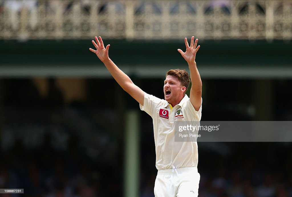 Jackson Bird of Australia appeals for a wicket during day one of the Third Test match between Australia and Sri Lanka at Sydney Cricket Ground on January 3, 2013 in Sydney, Australia.