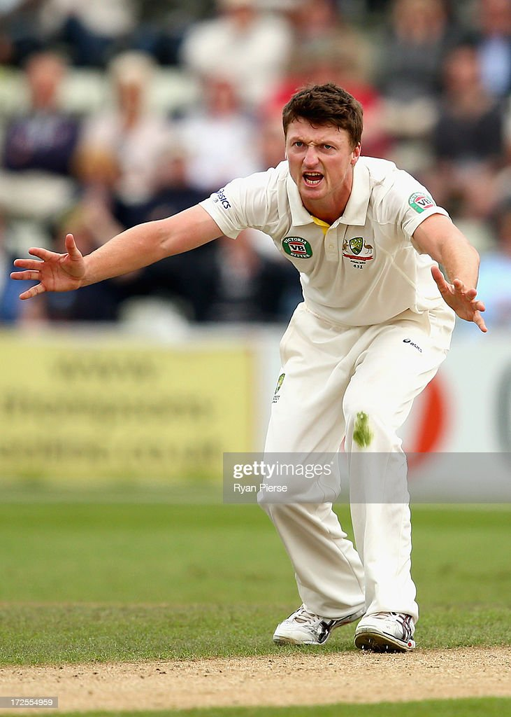 <a gi-track='captionPersonalityLinkClicked' href=/galleries/search?phrase=Jackson+Bird&family=editorial&specificpeople=8665256 ng-click='$event.stopPropagation()'>Jackson Bird</a> of Australia appeals for a wicket during day two of the Tour Match between Worcestershire and Australia at New Road at New Road on July 3, 2013 in Worcester, England.