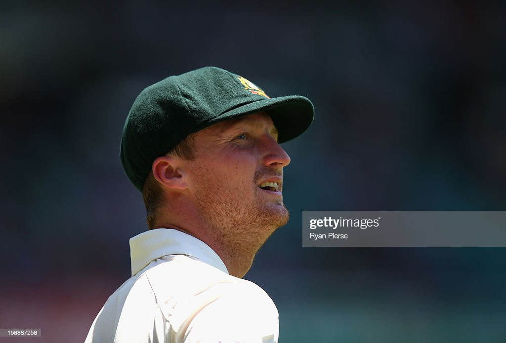Jackson Bird of Australia looks on day one of the Third Test match between Australia and Sri Lanka at Sydney Cricket Ground on January 3, 2013 in Sydney, Australia.