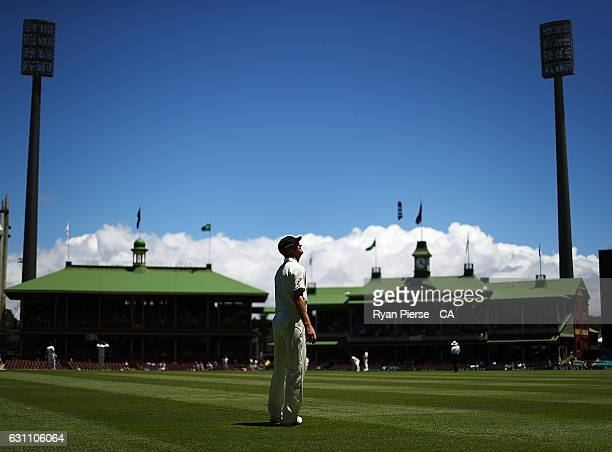 Jackson Bird of Australia looks on during day five of the Third Test match between Australia and Pakistan at Sydney Cricket Ground on January 7 2017...