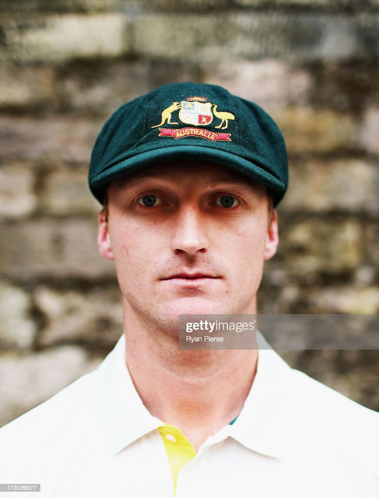<a gi-track='captionPersonalityLinkClicked' href=/galleries/search?phrase=Jackson+Bird&family=editorial&specificpeople=8665256 ng-click='$event.stopPropagation()'>Jackson Bird</a> of Australia poses during an Australian Fast Bowlers Portrait Session at Nottingham Castle on July 8, 2013 in Nottingham, England.