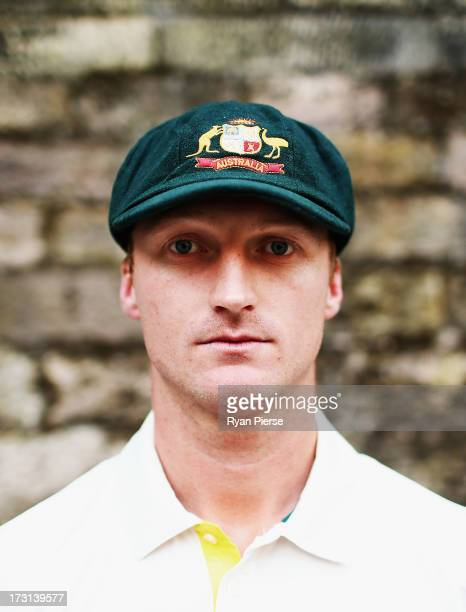 Jackson Bird of Australia poses during an Australian Fast Bowlers Portrait Session at Nottingham Castle on July 8 2013 in Nottingham England