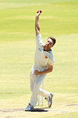 Jackson Bird of Tasmania bowls during day three of the Sheffield Shield match between Western Australia and Tasmania at WACA on December 8 2015 in...