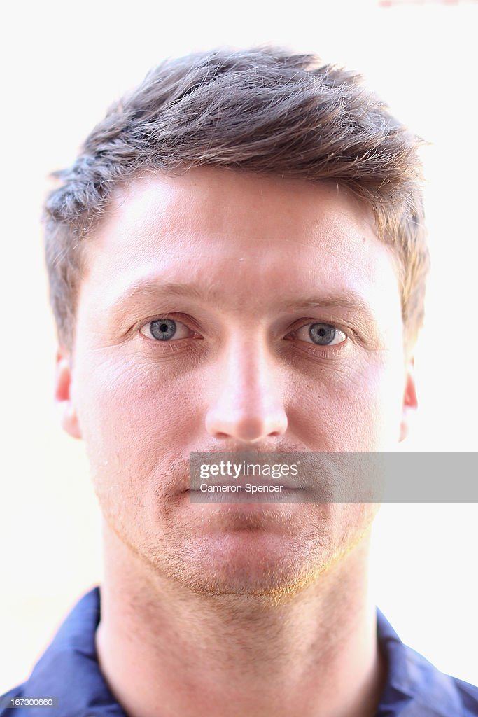 Jackson Bird of the Australian cricket team poses during the 2013 Australian Ashes squad announcement at The Mint on April 24 2013 in Sydney Australia