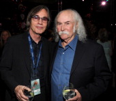 Jackson Browne and David Crosby attend 2014 MusiCares Person Of The Year Honoring Carole King at Los Angeles Convention Center on January 24 2014 in...