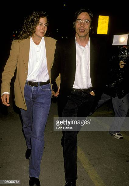 Jackson Browne and Girlfriend during Lyle Lovett in Concert at Pantages Theater at Pantages Theater in Hollywood California United States