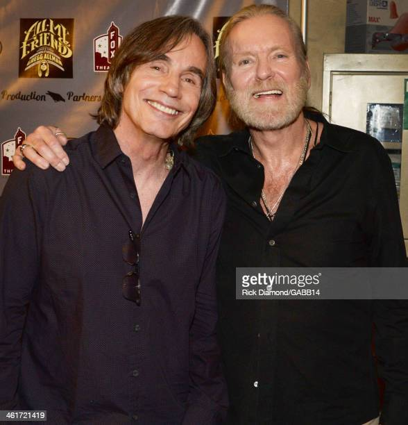 Jackson Browne and Gregg Allman attend All My Friends Celebrating the Songs Voice of Gregg Allman at The Fox Theatre on January 10 2014 in Atlanta...