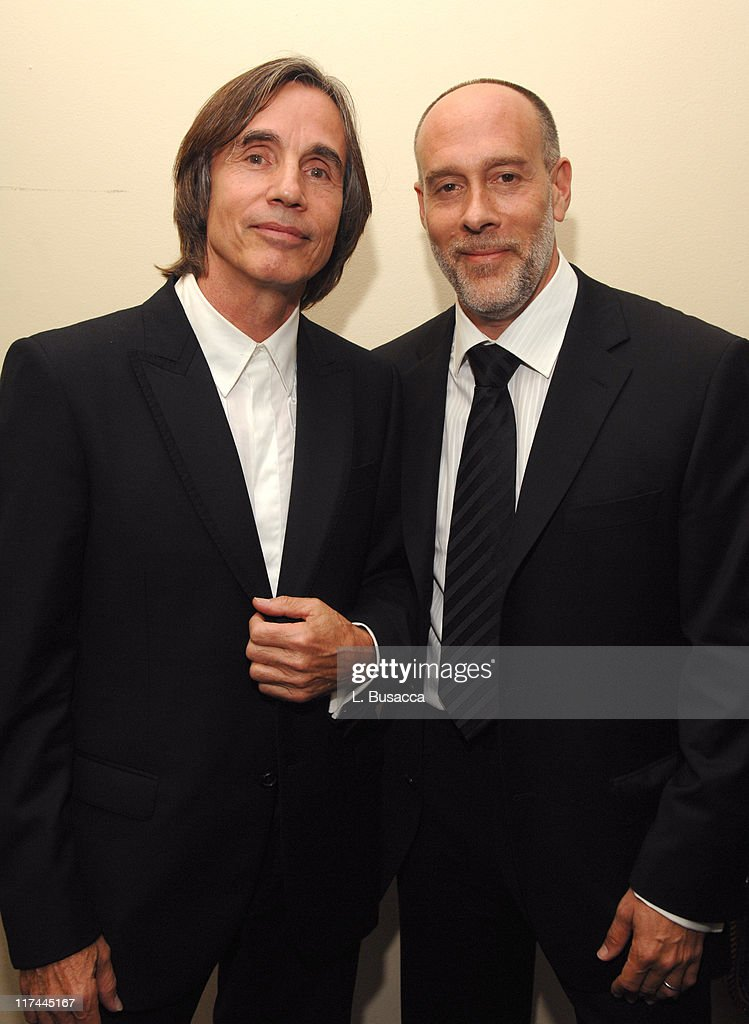 Jackson Browne and Marc Cohn during 38th Annual Songwriters Hall of Fame Ceremony - Cocktails and Backstage at Marriott Marquis in New York City, New York, United States.