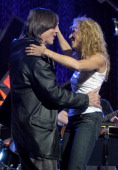 Jackson Browne and Sheryl Crow during 2006 MusiCares Person of the Year James Taylor Rehearsals Day 1 at Los Angeles Convention Center in Los Angeles...