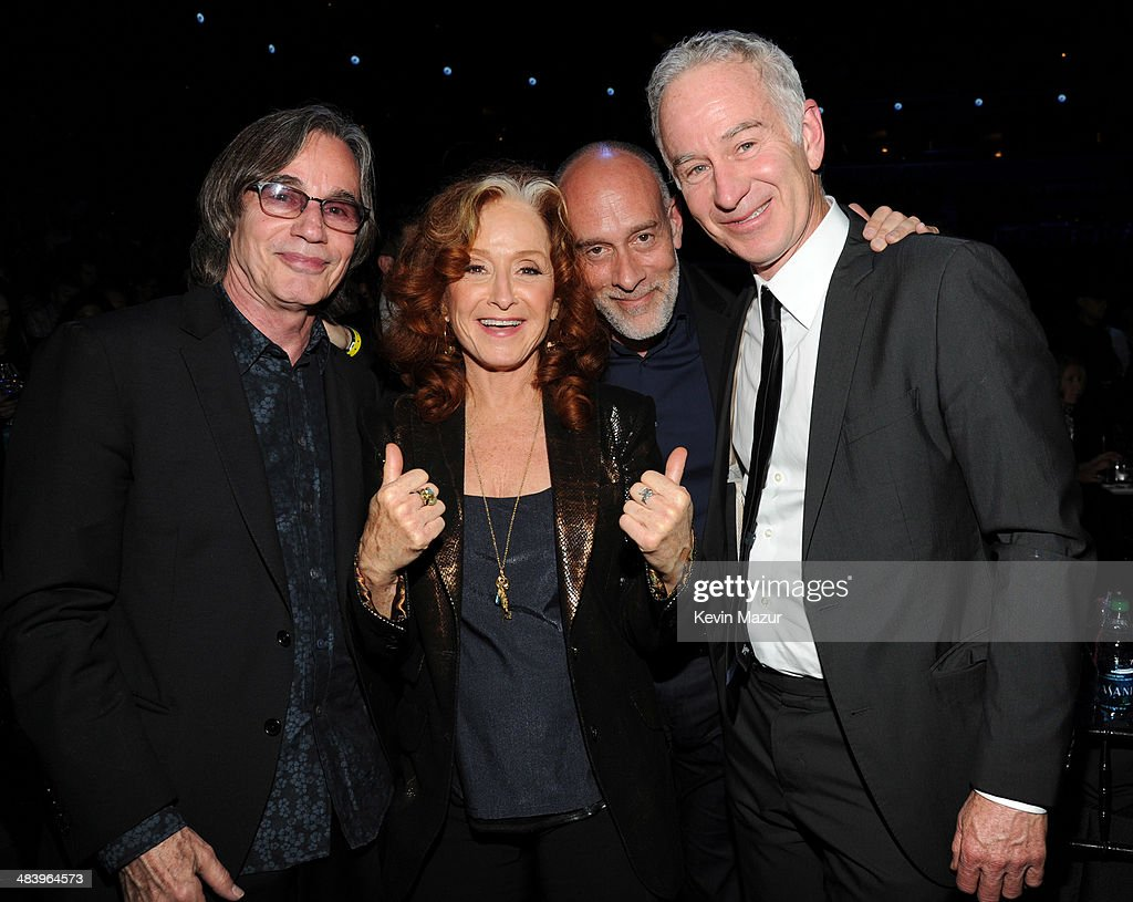 Jackson Browne, Bonnie Raitt, Marc Cohn and John McEnroe attend the 29th Annual Rock And Roll Hall Of Fame Induction Ceremony at Barclays Center of Brooklyn on April 10, 2014 in New York City.