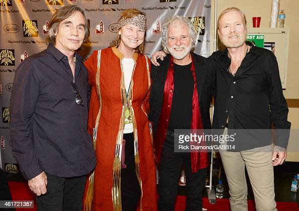 Jackson Browne Chuck Leavell Rose Lane and Gregg Allman attend All My Friends Celebrating the Songs Voice of Gregg Allman at The Fox Theatre on...