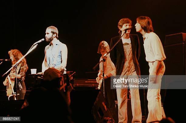 Jackson Browne Graham Nash and Bonnie Raitt at No Nukes Concert at MSG in NYC NYC September 1979