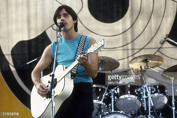 Jackson Browne perform at the US Festival in Devore California on May 28 1983