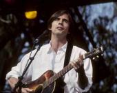 Jackson Browne performing at the Bill Graham Memorial Concert in Golden Gate Park on November 3 1991