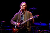 Jackson Browne performs at the tribute to Woody Guthrie at Club Nokia on April 14 2012 in Los Angeles California