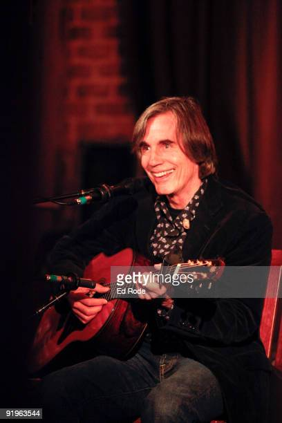 Jackson Browne performs during MusiCares House Concert at Sylvia Roberts' Residence on October 16 2009 in Nashville Tennessee