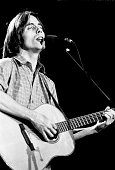 Jackson Browne performs live on stage in Los Angeles in 1974